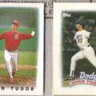 JOHN TUDOR 1986 + 1989 Topps minis.  CARDS / DODGERS