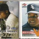 FRANK THOMAS Checklist 1995 Summit, 96 Pinnacle, 97 Select, 98 Tradition