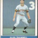 ALAN TRAMMELL 1987 Fleer Record Setters #38 of 44.  TIGERS