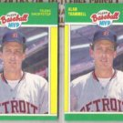 ALAN TRAMMELL (2) 1989 Fleer MVP's #39 of 44.  TIGERS