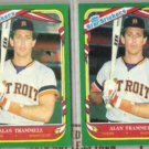 ALAN TRAMMELL (2) 1987 Fleer Star Stickers #118.  TIGERS