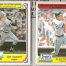 ALAN TRAMMELL 1984 + 1985 Topps Drakes.  TIGERS