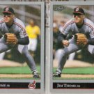 JIM THOME (2) 1992 Leaf #299.  INDIANS
