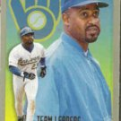 GREG VAUGHN 1994 Fleer Team Leaders Insert #8 of 28.  BREWERS