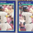 GREG VAUGHN (2) 1991 Score #528.  BREWERS