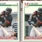 MO VAUGHN (2) 1991 Score Rookie Prospect #750.  RED SOX