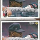 MO VAUGHN 1994 UD CC Silver Sig. Insert  w/ sister.  RED SOX