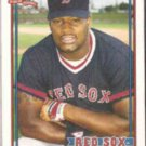 MO VAUGHN 1991 Topps Traded #123T.  RED SOX