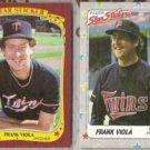 FRANK VIOLA 1986 + 1988 Fleer Star Stickers.  TWINS