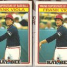 FRANK VIOLA (2) 1986 Kay Bee Young Stars #33 of 33.  TWINS