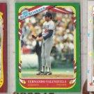 FERNANDO VALENZUELA 1986, 87 + 88 Fleer Stickers.  DODGERS