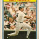 DAVE WINFIELD 1987 Kay Bee Superstars #33 of 33.  YANKEES