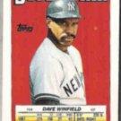 DAVE WINFIELD 1988 Topps Mini Superstar Sticker #54.  YANKEES