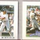 DAVE WINFIELD 1986 + 1989 Topps Minis.  YANKEES