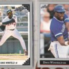 DAVE WINFIELD 1991 + 1992 Leaf.  ANGELS / JAYS