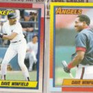 DAVE WINFIELD 1990 Topps + 1990 Topps Traded.  YANKEES / ANGELS