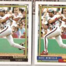 DAVE WINFIELD 1992 Topps Gold Winner #792 w/ sister.  ANGELS