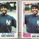 DAVE WINFIELD 1982 Topps All Star + OPC sister.  YANKEES