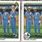 LARRY WALKER (2) 1990 UD Rookie Threats #702.  EXPOS