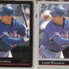 LARRY WALKER 1992 Leaf Black GOLD Insert w/ sister.  EXPOS