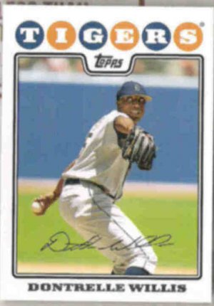 DONTRELLE WILLIS 2008 Topps #45.  TIGERS