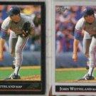 JOHN WETTELAND 1992 Leaf Black GOLD Insert w/ sister.  EXPOS