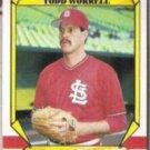 TODD WORRELL 1987 Fleer Award Winner #44 of 44.  CARDS