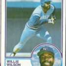 WILLIE WILSON 1983 Topps #710.  ROYALS