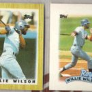 WILLIE WILSON 1987 + 1989 Topps Minis.  ROYALS