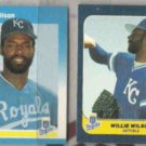 WILLIE WILSON 1986 + 1987 Fleer Minis.  ROYALS