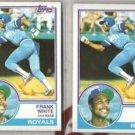 FRANK WHITE (2) 1983 Topps #525.  ROYALS