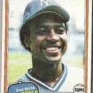 FRANK WHITE 1981 Topps #330.  ROYALS