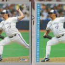DAVID WELLS (2) 1993 Fleer #702.  BLUE JAYS