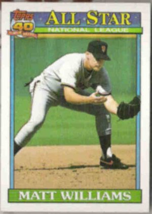 MATT WILLIAMS 1991 Topps All Star #399.  GIANTS