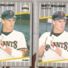 MATT WILLIAMS (2) 1989 Fleer #346.  GIANTS