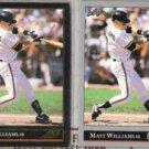 MATT WILLIAMS 1992 Leaf Black GOLD Ins. w/ sister.  GIANTS