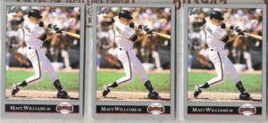 MATT WILLIAMS (3) 1992 Leaf #373.  GIANTS