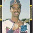 DEVON WHITE 1987 Donruss Rated Rookie #38.  ANGELS