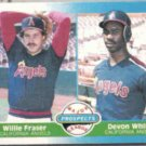 DEVON WHITE 1987 Fleer Prospects #646.  ANGELS