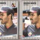 DEVON WHITE (2) 1989 Fleer #489.  ANGELS