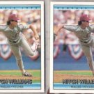 MITCH WILLIAMS (2) 1992 Donruss #353.  PHILLIES