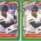 LOU WHITAKER (2) 1987 Fleer Star Stickers #122.  TIGERS