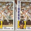 LOU WHITAKER (2) 1984 Topps #695.  TIGERS