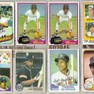 LOU WHITAKER (8) Card Mid-Grade Old Lot w/ 1978 RC.  TIGERS