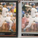 ROBIN YOUNT 1992 Leaf Black GOLD Ins. w/ sister.  BREWERS