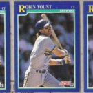 ROBIN YOUNT (3) 1991 Score #525.  BREWERS