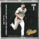 AUBREY HUFF 2004 Fleer Showcase Authentix #64.  RAYS