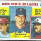 TOM SEAVER 1984 Topps #708 w/ Rogers + Lefty.  METS