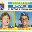 GEORGE BRETT 1982 Topps #96 w/ Gura.  ROYALS