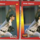 JOHN SMOLTZ (2) 1992 Triple Play #172.  BRAVES